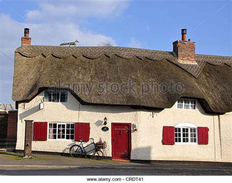 Cottages Leicestershire by Thatched Roof Uk Stock Photos Thatched Roof Uk Stock