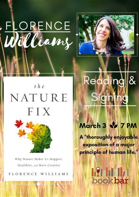 summary and analysis florence williams the nature fix why nature makes us happier healthier and more creative books reading and singing with florence williams yourhub