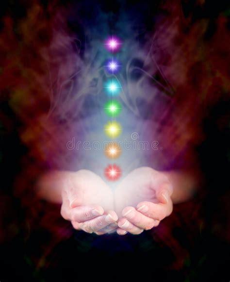 healing hands   chakras stock photo image