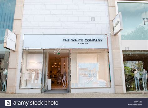 stock photo company the smart and modern shop front of high end retail store