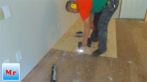 How To Make Subfloor Leveling With Plywood And Concrete