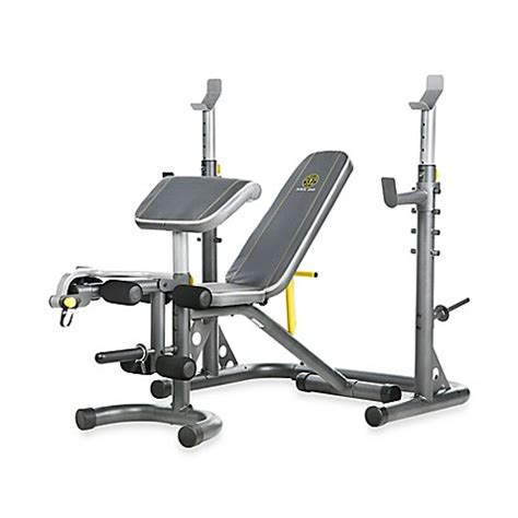 bed bath and beyond olympic gold s gym xrs 20 olympic workout bench bed bath beyond