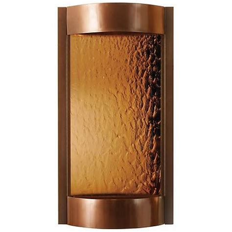 contempo solare bronze mirror copper indoor wall