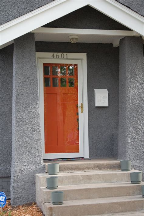 blue house orange door 25 best images about shed colors on pinterest stucco