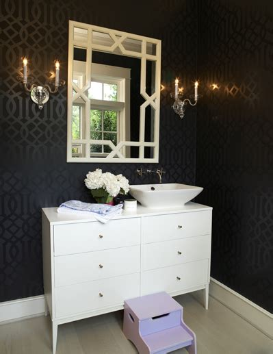 black and silver bathroom wallpaper imperial trellis wallpaper eclectic bathroom house garden
