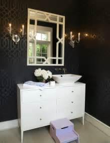 black and silver bathroom wallpaper imperial trellis wallpaper eclectic bathroom house