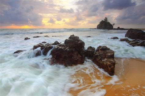 picture water sunset beach sea ocean seashore