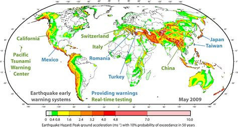 earthquake zones in the world shaken but not stirred