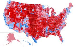 map of us counties by political the 2016 election by county abagond