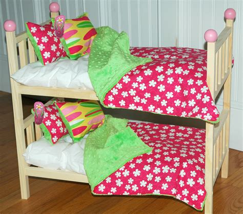 american doll bed american girl doll bed kanani bunk bed with hawaiian bedding