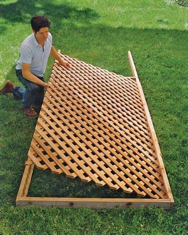 build  trellis building  trellis lattice fence