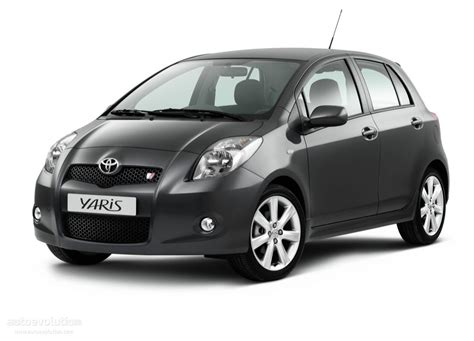 small cars black toyota yaris ts 5 doors specs 2007 2008 2009 2010