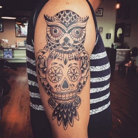 owl and rose tattoo meaning 58 best skull owl tattoos collection