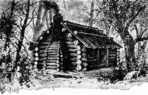 Log Cabin In The Woods Painting
