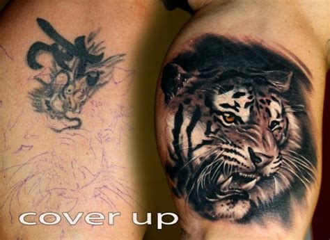 Animal Tattoo Cover Ups | 17 best images about tiger tattoos on pinterest tiger