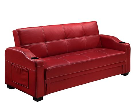 red faux leather sofa lillian 109cm red faux leather sofa bed