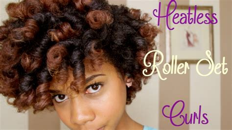 natural hair tutorial making your roller set youtube how to heatless roller set curls on natural hair youtube