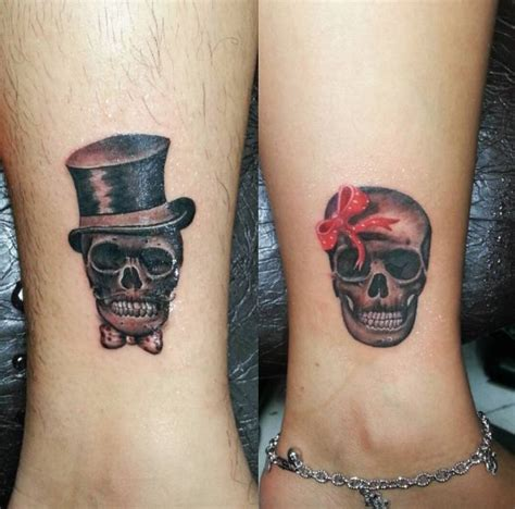 matching skull tattoos for couples 50 creative and matching tattoos for 2017