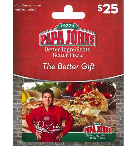 papa john s pizza gift card loadable luxury - Where To Buy Papa John S Gift Cards