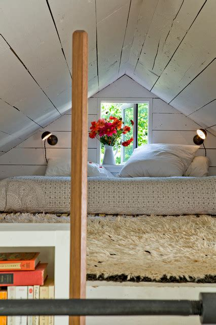 tiny house shabby chic style bedroom portland by