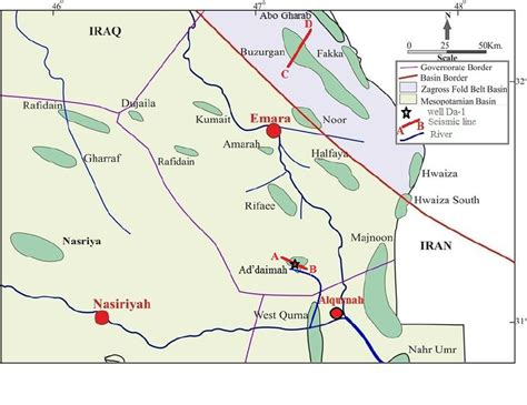 map of iraqi fields location maps of and gas fields of mesan governorate