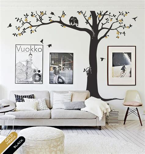 room decals for creative nursery or living room decoration decal with birds and owls kr081 ebay