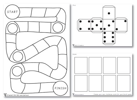 free printable board games to make 8 best images of game ideas printable templates game