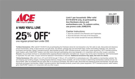 ace hardware discount 20 off ace hardware promo code coupons june 2016