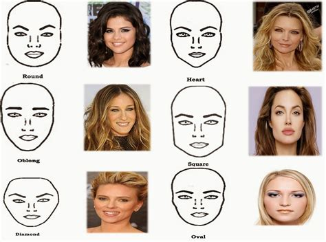 types of hair for types of faces shapes what is your face shape type beauty tips