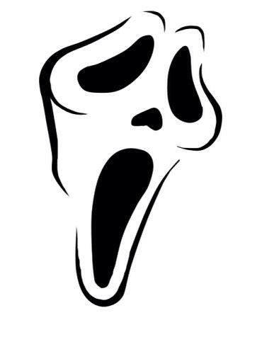 scream ghostface pumpkin stencil happyhalloween