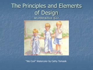 design elements and principles quiz ppt elements and principles of art teachers powerpoint