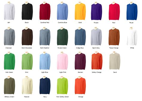 gildan comfort colors gildan colors 28 images gildan shirts color chart 2017