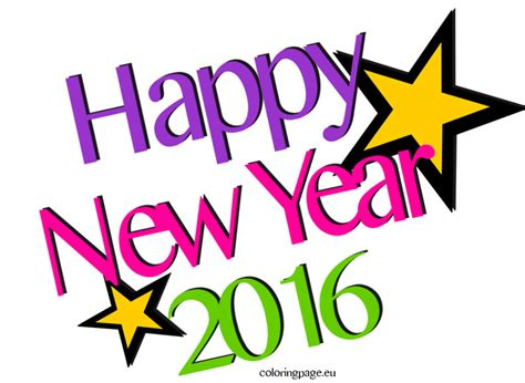 clip of new year 2016 happy new year new year 6 black and white clipart clipart