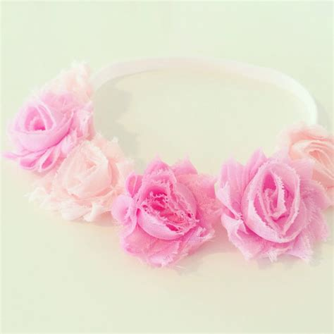 Pink Flower Baby Headband pink flower crown headband pink flower crown headband