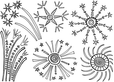 free printable fireworks coloring pages for kids