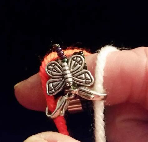 and this accessory found in ring left index finger and comes with butterfly yarn guide ring tensioner tension knitting
