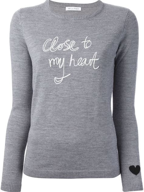 Sweater Normal Heartbeat Abu lyst freud to my sweater in gray