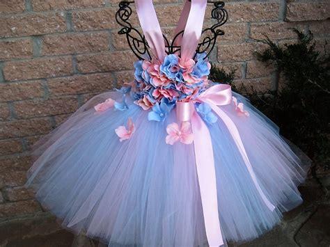 Dress Pink Tutu Flower blue pink flowers tutu dress birthday dress pink tutu