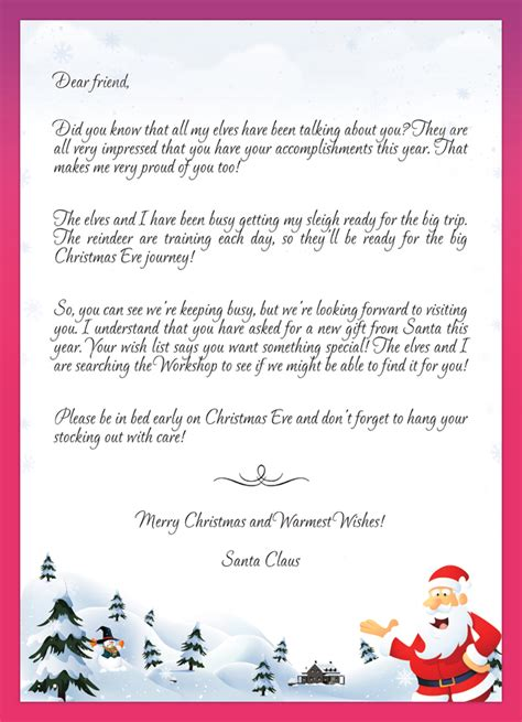 Parent Letter To Child About Santa Become Santa For Your Personalized Letters From Santa To Your Child