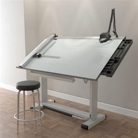 Architects Drafting Table Pro Drafting Table Set 3d Model