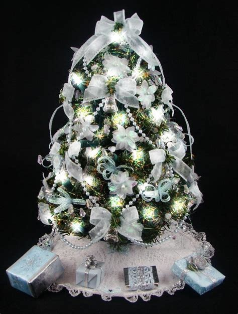 decorated mini tabletop christmas tree by christmastreesnmore