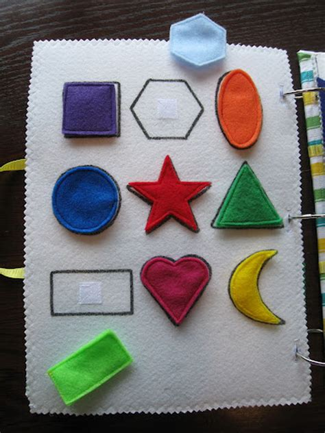 shapes quiet book pattern quiet book ideas for kids hative