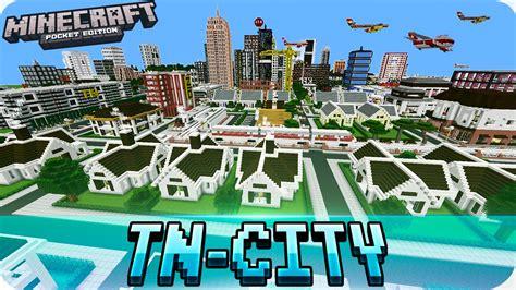 mcpe city maps minecraft pe maps tn city map with mcpe