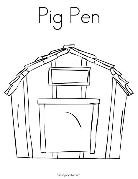 pigsty coloring page pig pen coloring page twisty noodle