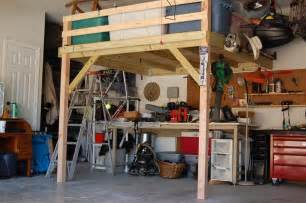 How To Build A Loft In A Garage by Diy Garage Storage Loft Plans Home Design Ideas