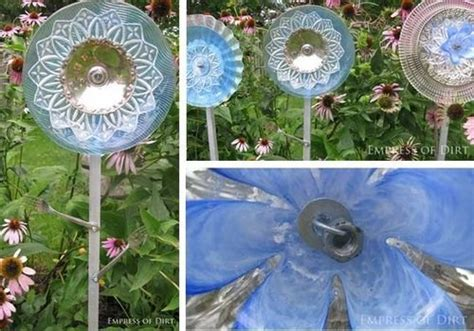 Diy Glass Garden Flowers How To Make Glass Garden Flowers And Drill Through Glass
