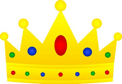 Clipart Crown golden royal crown with jewels free clip