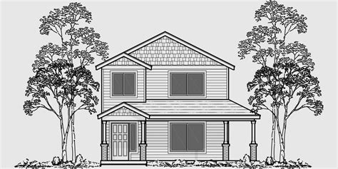 narrow lot house plans with rear garage two story house plans narrow lot house plans rear garage house