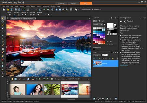 photo editing software corel paint shop pro x8