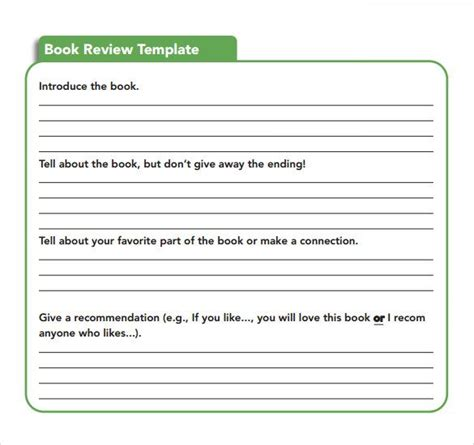 docs book template sle book review template 10 free documents in pdf